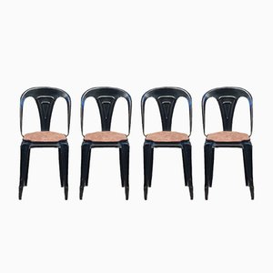Metal Chairs, Set of 4