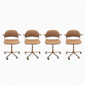 Chaises de Bureau Pivotantes, 1970s, Set de 4