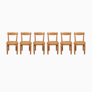 Chaises de Salle à Manger Modèle Thierry par Guillerme et Chambron pour Votre Maison, 1960s, Set de 6