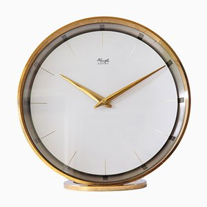 Horloge de Table en Laiton de Kienzle, 1950s