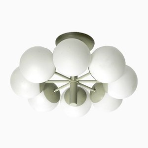 Metall Deckenlampe von Kaiser, 1960er
