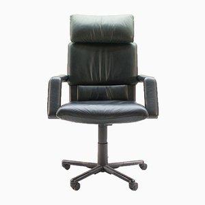 Chaise de Bureau Figura II Vintage en Cuir par Mario Bellini pour Vitra
