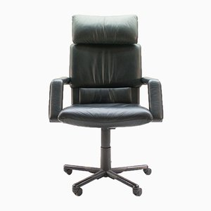 Vintage Figura II Office Chair in Leather by Mario Bellini for Vitra