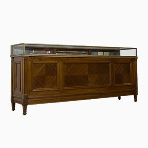 Antique Mahogany & Brass Shop Counter