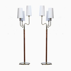 Floor Lamps by Hans Bergström for ASEA, 1940s, Set of 2