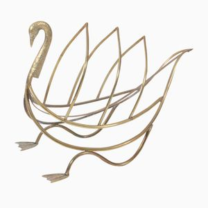 Revistero vintage en forma de cisne de Maison Jansen