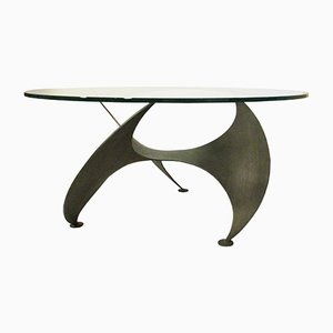 Steel and Glass Propeller Coffee Table, 1960s