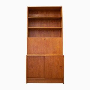 Mid-Century Teak Danish Secretaire with Bookcase