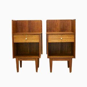 Mid-Century Teak Bedside Cabinets, Set of 2
