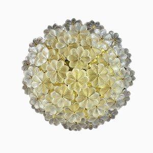 Aplique grande floral de vidrio de Ernst Palme, años 60