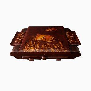 Scatola per gioielli vintage in legno