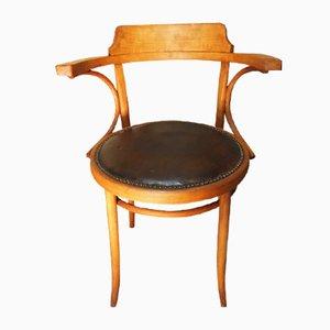Sedia da ufficio in legno, anni '60