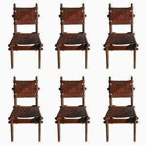 Dinner Chairs by Angel Pazmino for Meubles de Estilo, 1960s, Set of 6