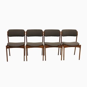 Teak Dining Chairs by Erik Buch for Oddense Maskinsnedkeri, 1960s, Set of 4