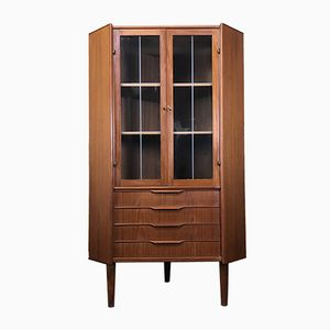 Danish Modern Teak Corner Cabinet by Johannes Sorth, 1960s