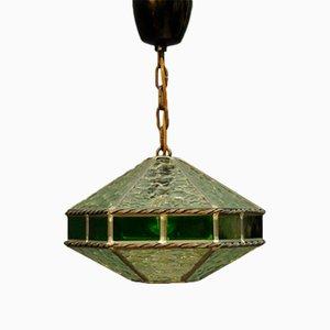 Lámpara colgante vintage de vidrio