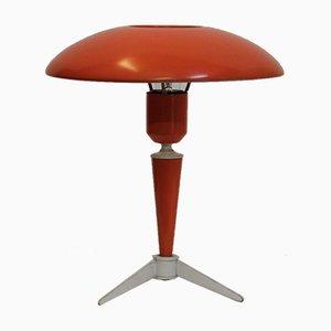 Dreibeinige orangefarbene Lampe von Louis Kalff für Philips, 1950er