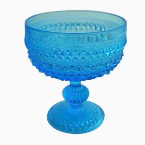 Blaue Glasschale von Erika Trzewik Drost, 1970er