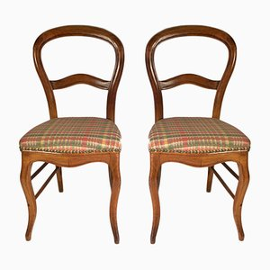 Antique Louis Philippe French Chairs, Set of 2