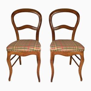 Chaises Louis Philippe Antiques, France, Set de 2