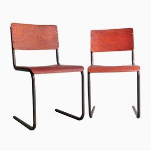 Vintage Stühle aus Schichtholz, 2er Set