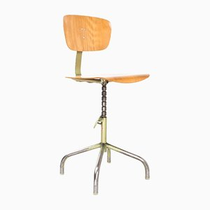 Industrial Drawing Board Swivel Chair from Walter, 1960s