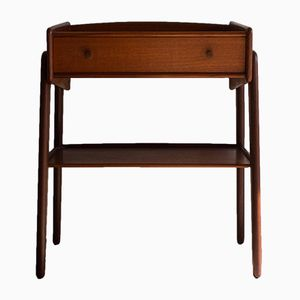 Danish Teak Bedside Table by Svend Madsen for NBM, 1960s