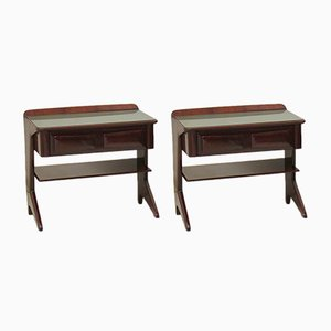 Mahogany Nightstands by Vittorio Dassi, 1950s, Set of 2
