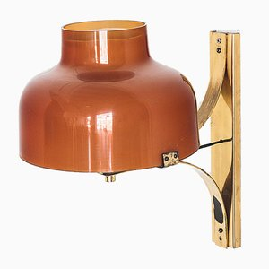 Spanish Amber Metal and Methacrylate Model Maxbill Wall Light by Miguel Mila for Tramo, 1970s