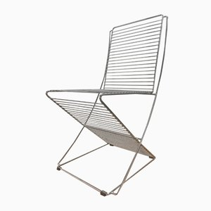 Vintage Metal & Chrome Wire Chair, 1970s