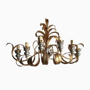 Vergoldete französische Vintage Metall Wandlampe