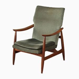 Vintage Dutch Mid-Century High Back Armchair