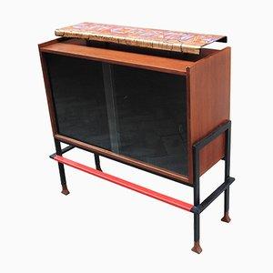 Mueble móvil Mid-Century de Victor Cerrato, años 50