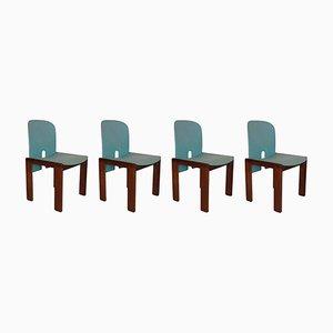Nussholz 121 Stühle von Tobia & Afra Scarpa für Cassina, 4er Set