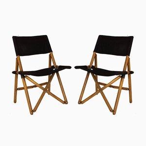 Italian Folding Chairs by Sergio Asti for Zanotta, 1960s, Set of 4