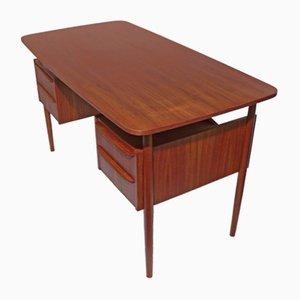 Teak Desk by Gunnar Tibergaard Nielsen for Ikast, 1960s