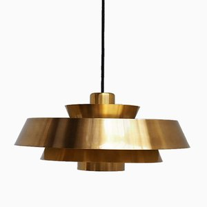 Lampe à Suspension Nova en Laiton par Jo Hammerborg pour Fog & Mørup, 1960s