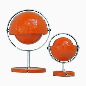 Lampade da tavolo Moon di Flemming Brylle & Preben Jacobsen per Quality System, anni '70, set di 2