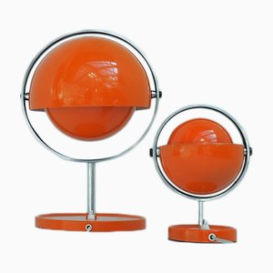 Moon Light Table Lamps by Flemming Brylle & Preben Jacobsen for Quality System, 1970s, Set of 2