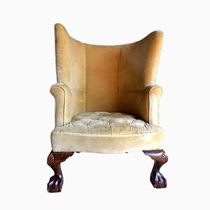Antique Barrel Back George II Style Armchairs, 1860s, Set of 2