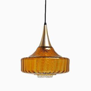 Lámpara colgante de cristal, años 60