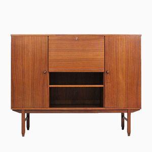 Mueble bar italiano de teca, años 50