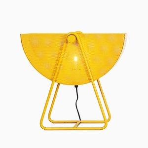 Lampada da tavolo vintage in metallo con paralume regolabile di Bieffeplast