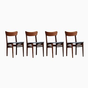 Chaises Vintage, Danemark, Set de 4
