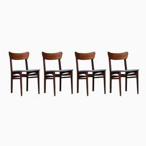 Dänische Vintage Stühle, 4er Set