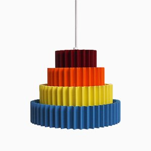 Danish Bright Colored Pendant Lamp from Bodi Lampen, 1960s