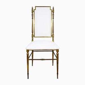 Italian Brass Chiavari Chairs, 1950s, Set of 4