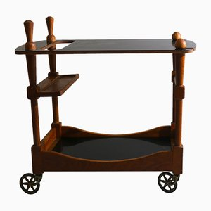 Bar Cart Drinks Trolley by Guillerme et Chambron, 1950s