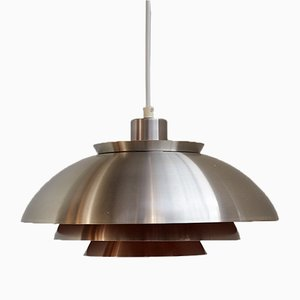 Lámpara colgante danesa de aluminio, años 60