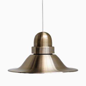 Lámpara colgante escandinava color latón, años 60